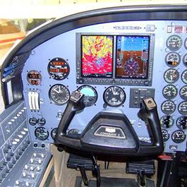 Close Up View of a Cockpit