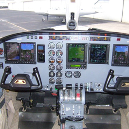 Cockpit View of a Plane